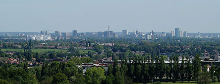 Birmingham City View from Lickey Hills