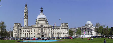Cardiff City Hall and National Museum Gallery of Wales