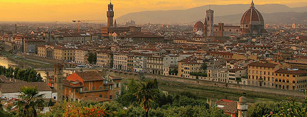 Panorama of Florence city