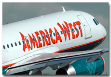 America West Airlines flight tickets