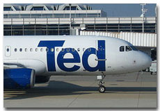 Ted Airlines flight tickets