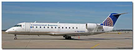 Continental Express flights